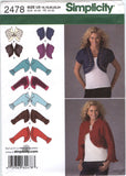 Simplicity 2478 Misses' Bolero Jackets with Neckline and Sleeve Variations - U5 (16-18-20-22-24) - Smiths Depot Sewing Pattern Superstore  - 2