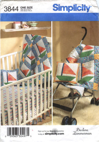 Simplicity 3844 Baby Nursery Essentials -  - Smiths Depot Sewing Pattern Superstore