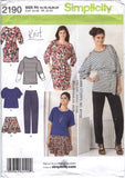 Simplicity 2190 Misses' Pants, Skirt and Knit Dress or Tunics and Sash - R5 (14-16-18-20-22) - Smiths Depot Sewing Pattern Superstore  - 2