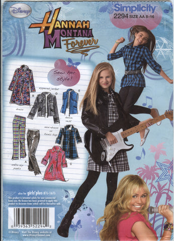 Simplicity 2294 Girls'/Girls' Plus Pants, Dress, Tunic, Jacket and Vest - AA (8-10-12-14-16) - Smiths Depot Sewing Pattern Superstore