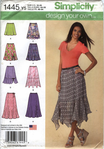Simplicity 1445 Misses'/Miss Petite Design Your Own Skirt with Length Variations - Y5 (16-20-22-24-26) - Smiths Depot Sewing Pattern Superstore