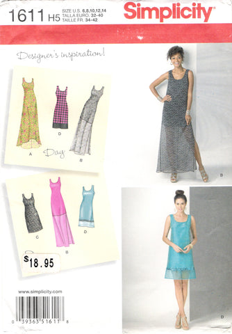 Simplicity 1611 Misses'/Miss Petite Dress with Length Variations - H5 (6-8-10-12-14) - Smiths Depot Sewing Pattern Superstore  - 1