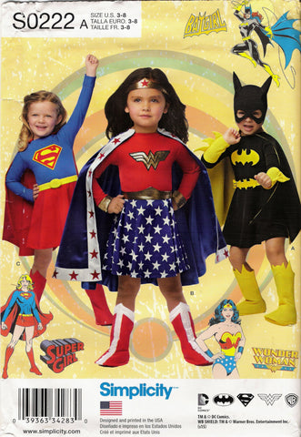 Simplicity 0222 Child's Costumes - A (3-4-5-6-7-8) - Smiths Depot Sewing Pattern Superstore