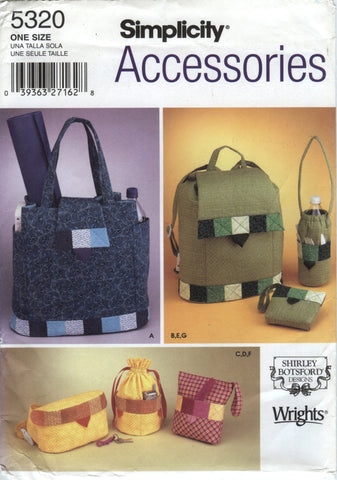 Simplicity 5320 Handbags, Back Pack and Accessories -  - Smiths Depot Sewing Pattern Superstore