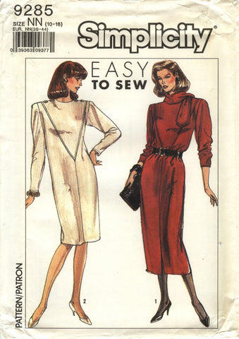 Simplicity 9285 Misses' Pullover Dress in Two Lengths - NN (10-12-14-16) - Smiths Depot Sewing Pattern Superstore