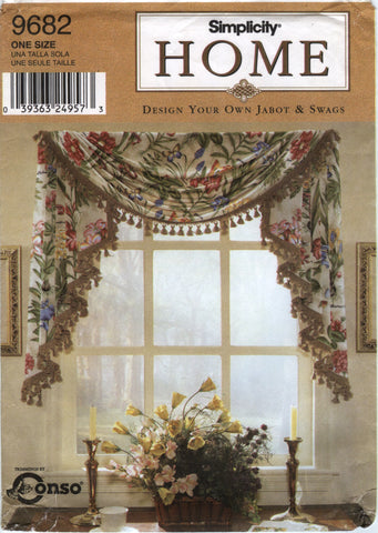 Simplicity 9682 Design Your Own Jabot or Swag Window Treatment -  - Smiths Depot Sewing Pattern Superstore