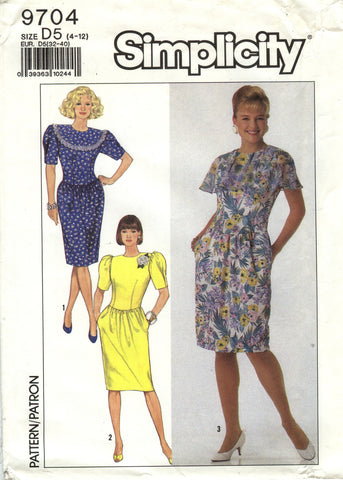 Simplicity 9704 Misses'/Miss Petite Dress - D5 (4-6-8-10-12) - Smiths Depot Sewing Pattern Superstore