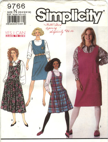 Simplicity 9766 Misses' Easy to Sew Jumper in Two Lengths - N (10-12-14) - Smiths Depot Sewing Pattern Superstore