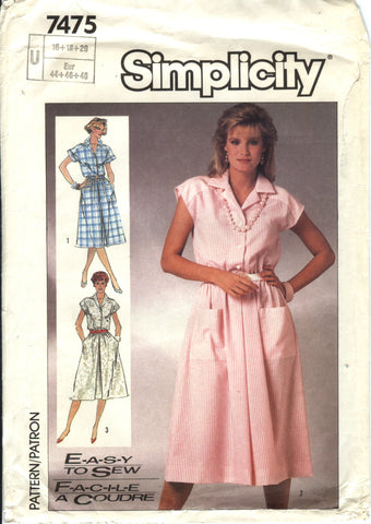 Simplicity 7475 Misses' Easy to Sew Dress - U (16-18-20) - Smiths Depot Sewing Pattern Superstore