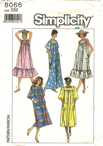 Simplicity 8066 Misses' Easy to Sew Loose Fitting Dress in Two Lengths -  - Smiths Depot Sewing Pattern Superstore