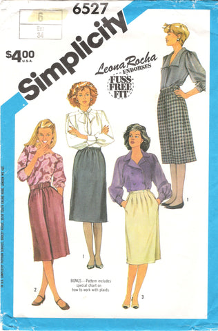 Simplicity 6527 Misses' Set of Skirts - (6) - Smiths Depot Sewing Pattern Superstore