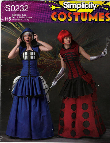 Simplicity 0232 Misses' Costumes - H5 (6-8-10-12-14) - Smiths Depot Sewing Pattern Superstore  - 1