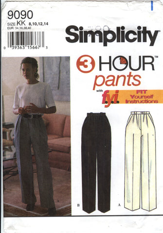 Simplicity 9090 Misses' Straight Leg and Slim Pants - KK (8-10-12-14) - Smiths Depot Sewing Pattern Superstore