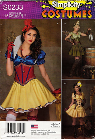 Simplicity 0233 Misses' Costumes - H5 (6-8-10-12-14) - Smiths Depot Sewing Pattern Superstore  - 1