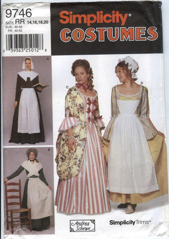 Simplicity 9746 Misses' Costume - RR (14-16-18-20) - Smiths Depot Sewing Pattern Superstore