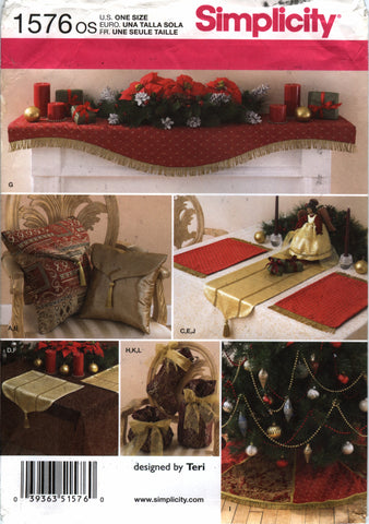 Simplicity 1576 Christmas Accessories -  - Smiths Depot Sewing Pattern Superstore