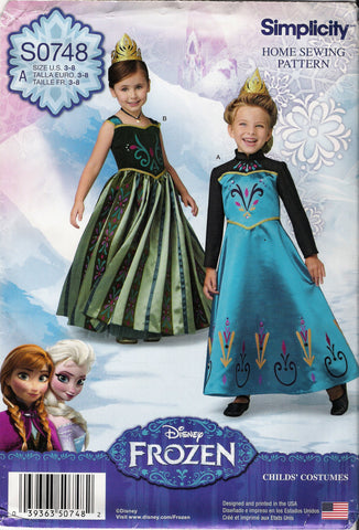 Simplicity 0748 Child's Costumes - A (3-4-5-6-7-8) - Smiths Depot Sewing Pattern Superstore
