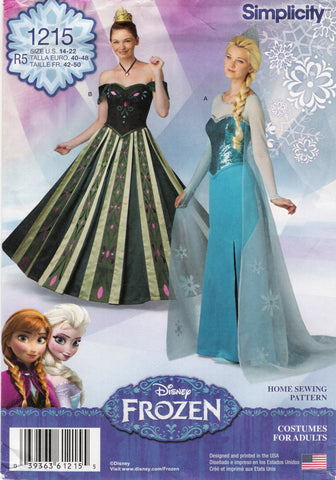 Simplicity 1215 Misses' Costumes - R5 (14-16-18-20-22) - Smiths Depot Sewing Pattern Superstore