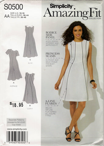 Simplicity 0500 Misses'/Women's Dress - AA (10-12-14-16-18) - Smiths Depot Sewing Pattern Superstore  - 1