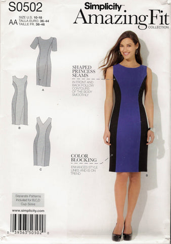Simplicity 0502 Misses'/Women's Dress - AA (10-12-14-16-18) - Smiths Depot Sewing Pattern Superstore  - 1