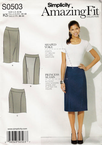 Simplicity 0503 Misses'/Miss Petite Skirt in Three Lengths - K5 (8-10-12-14-16) - Smiths Depot Sewing Pattern Superstore  - 1