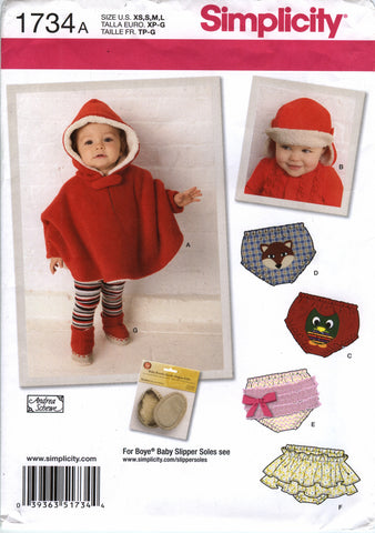 c8094877103 Simplicity 1734 Babies  Poncho