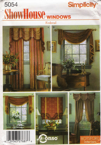 Simplicity 5054 Window Treatment -  - Smiths Depot Sewing Pattern Superstore