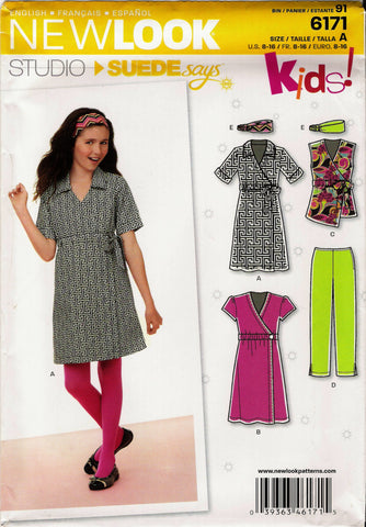 New Look 6171 Junior's Five Sizes in One - A (8-10-12-14-16) - Smiths Depot Sewing Pattern Superstore