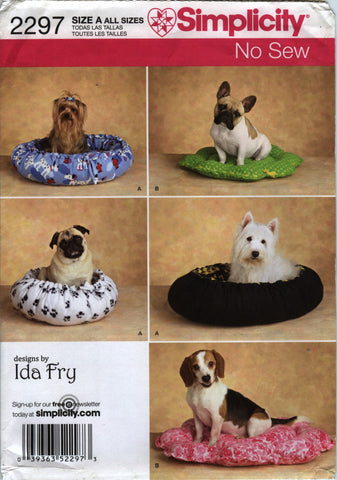 Simplicity 2297 No Sew Dog Beds in Two Styles -  - Smiths Depot Sewing Pattern Superstore