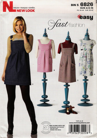 New Look 6826 Misses' Six Sizes in One - A (6-8-10-12-14-16) - Smiths Depot Sewing Pattern Superstore