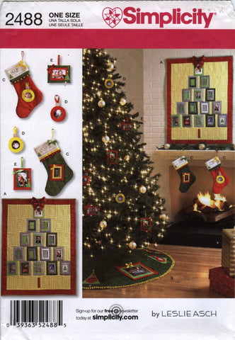 Simplicity 2488 Christmas Decorations -  - Smiths Depot Sewing Pattern Superstore