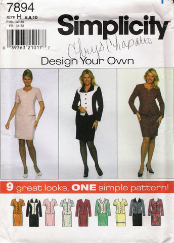 Simplicity 7894 Misses'/Miss Petite Suit - H (6-8-10) - Smiths Depot Sewing Pattern Superstore