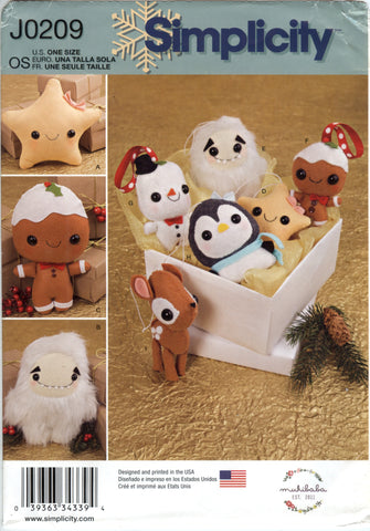 Simplicity 0209 Stuffed Animals and Ornaments -  - Smiths Depot Sewing Pattern Superstore