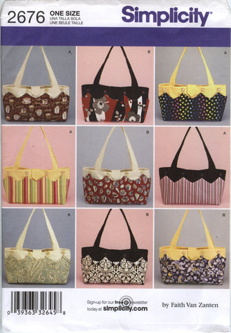 Simplicity 2676 Handbags and Totes -  - Smiths Depot Sewing Pattern Superstore