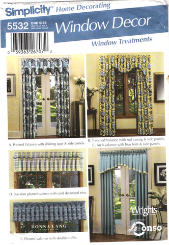 Simplicity 5532 Window Treatments
