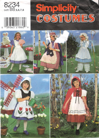 Simplicity 8234 Child's Costumes