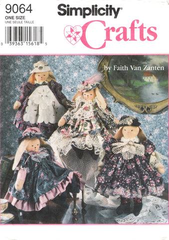 "Simplicity 9064 15"" Victorian Bunnies and Clothes"