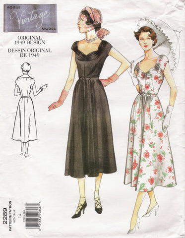 Vogue 2289 Misses' Dress and Belt Original 1949 Design - (14) - Smiths Depot Sewing Pattern Superstore