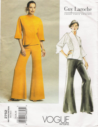 Vogue 2752 Misses'/Misses' Petite Jacket and Pants - (14-16-18) - Smiths Depot Sewing Pattern Superstore