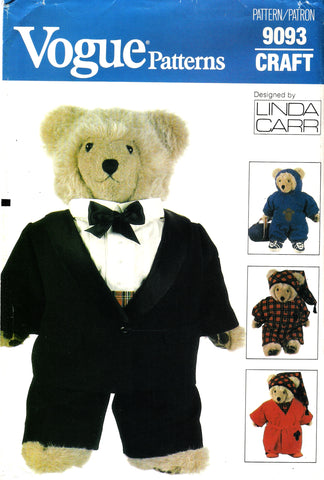 Vogue 9093 Bear Clothes