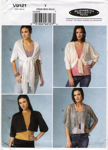 Vogue 9121 Misses' Jackets - Y (4-6-8-10-12) - Smiths Depot Sewing Pattern Superstore