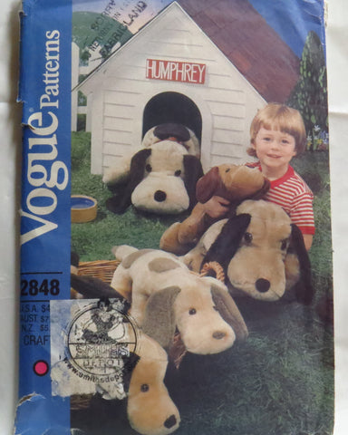 "Vogue 2848 Stuffed Dogs 35"" and 60"" -  - Smiths Depot Sewing Pattern Superstore  - 1"