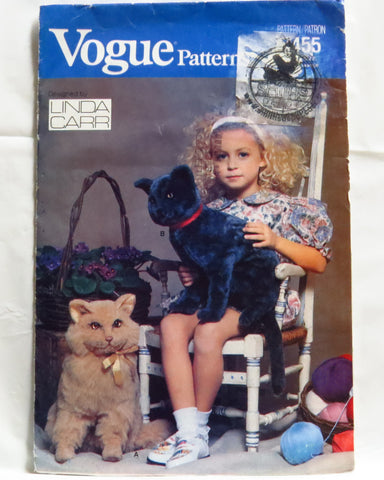 "Vogue 7455 Sitting Cats Plush 29"",54"" and 60"" -  - Smiths Depot Sewing Pattern Superstore  - 1"