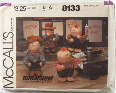 McCall's 8133 Hugachums Country Western Dolls -  - Smiths Depot Sewing Pattern Superstore  - 1