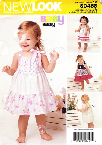 New Look 0453 Babies Four Sizes in One - A (NB-L) - Smiths Depot Sewing Pattern Superstore