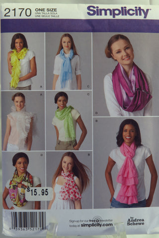 Simplicity 2170 Scarves -  - Smiths Depot Sewing Pattern Superstore