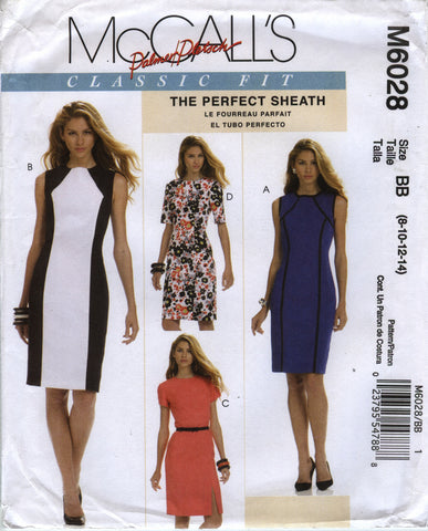 McCall's 6028 Misses' Dress - BB (8-10-12-14), - Smiths Depot Sewing Pattern Superstore  - 1