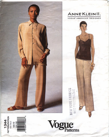 Vogue 1344 Misses' Jacket, Top & Pants - (6-8-10) - Smiths Depot Sewing Pattern Superstore