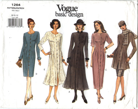 Vogue 1264 Misses' Dress, Tunic & Skirt - (8-10-12) - Smiths Depot Sewing Pattern Superstore