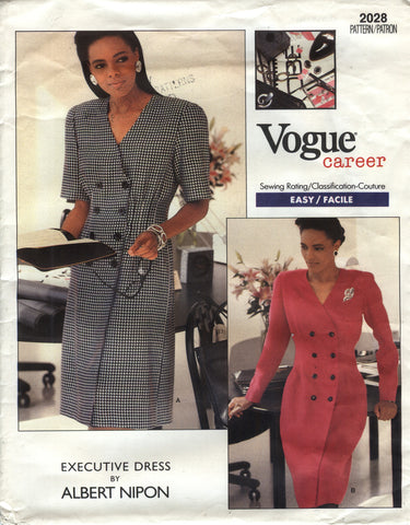 Vogue 2028 Misses' Dress - 12-14-16 - Smiths Depot Sewing Pattern Superstore
